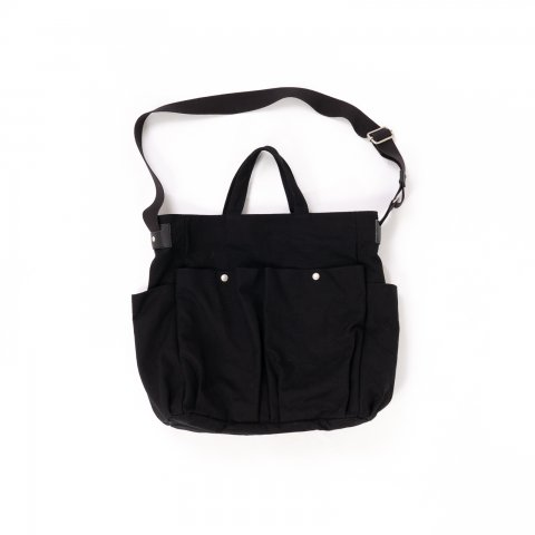 hobo * COTTON CANVAS 2WAY SHOULDER BAG * Black