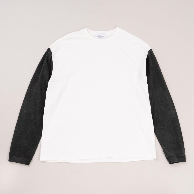 UNUSED * US1957 L/S Football Tee * White/Black
