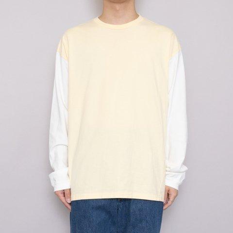 UNUSED * US1957 L/S Football Tee * Yellow/White