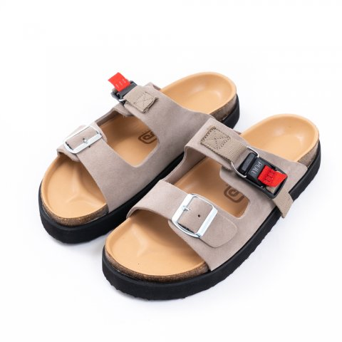 hobo * COW LEATHER SANDAL with FIDLOCK BUCKLE * Gray