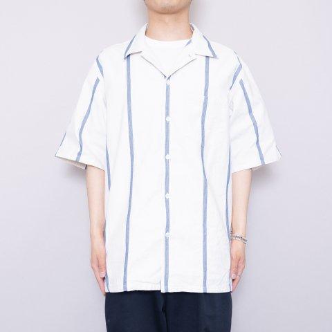 UNUSED * US2000 Stripe S/S Shirt * White/Blue
