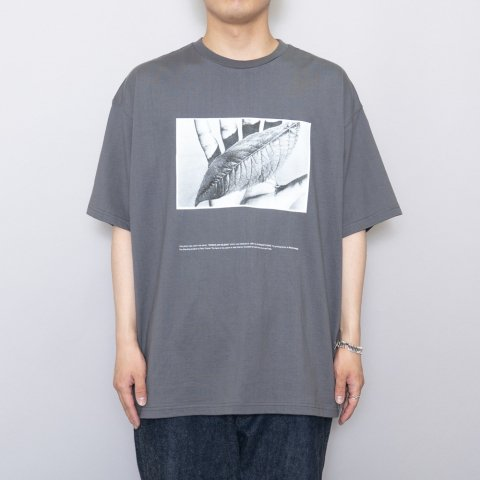 """Graphpaper * POET MEETS DUBWISE for GP Oversized Tee  """"W&S"""" * Gray"""
