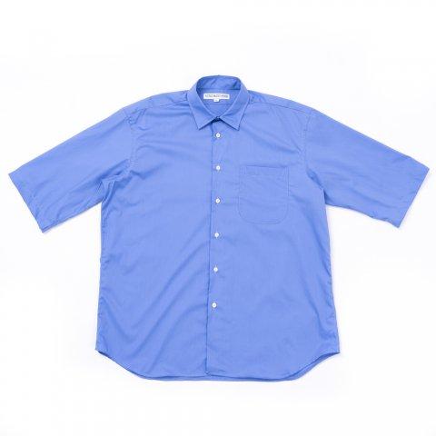INDIVIDUALIZED SHIRTS * for public Half Sleeve Shirt  French Poplin * Blue