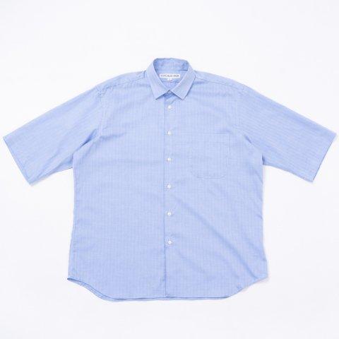 INDIVIDUALIZED SHIRTS * for public Half Sleeve Shirt Herringbone * Blue