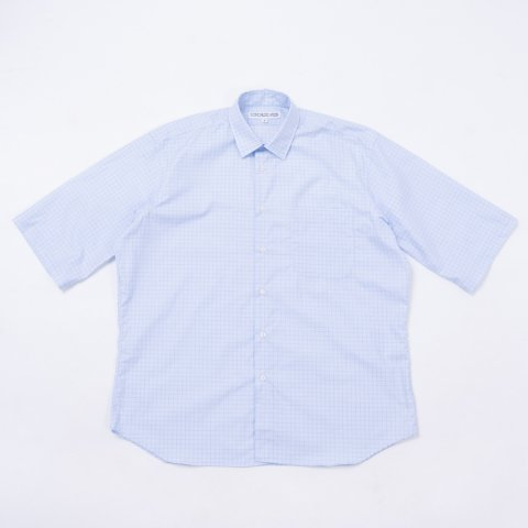 INDIVIDUALIZED SHIRTS * for public Half Sleeve Shirt Small Check * Blue