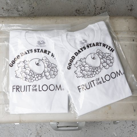 UNUSED * US2025 ×Fruit of the loom Inside Out 2pack Tee * White/White