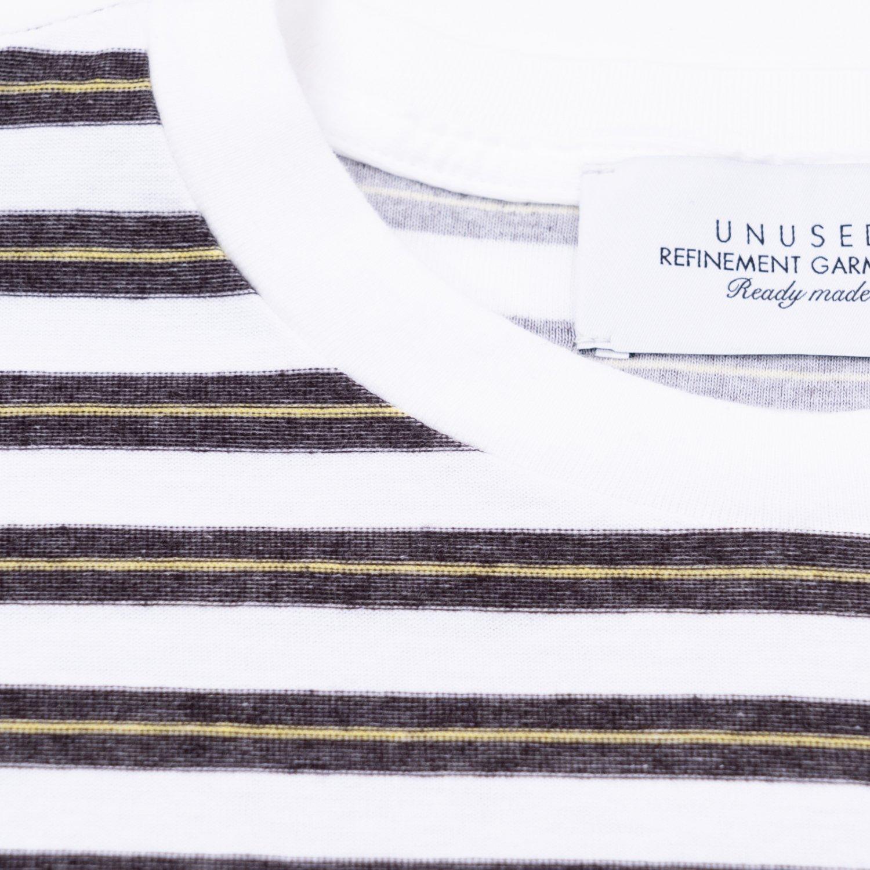 UNUSED * US2108 Cotton Border S/S T-Shirt * White/Black
