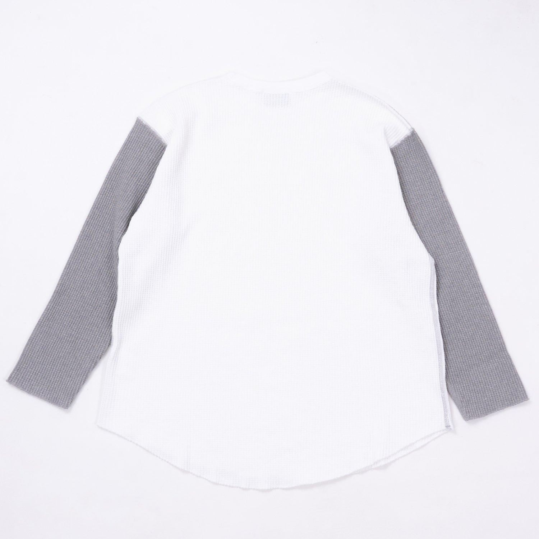 UNUSED * US2069 Three Quarter Sleeve Cotton Thermal * White/Gray
