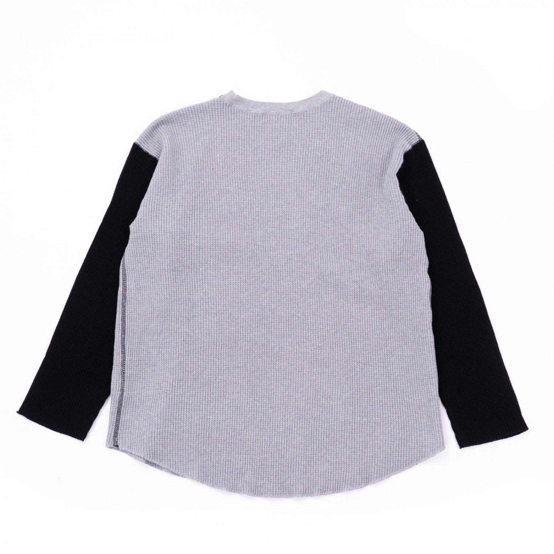 UNUSED * US2069 Three Quarter Sleeve Cotton Thermal * Gray/Black