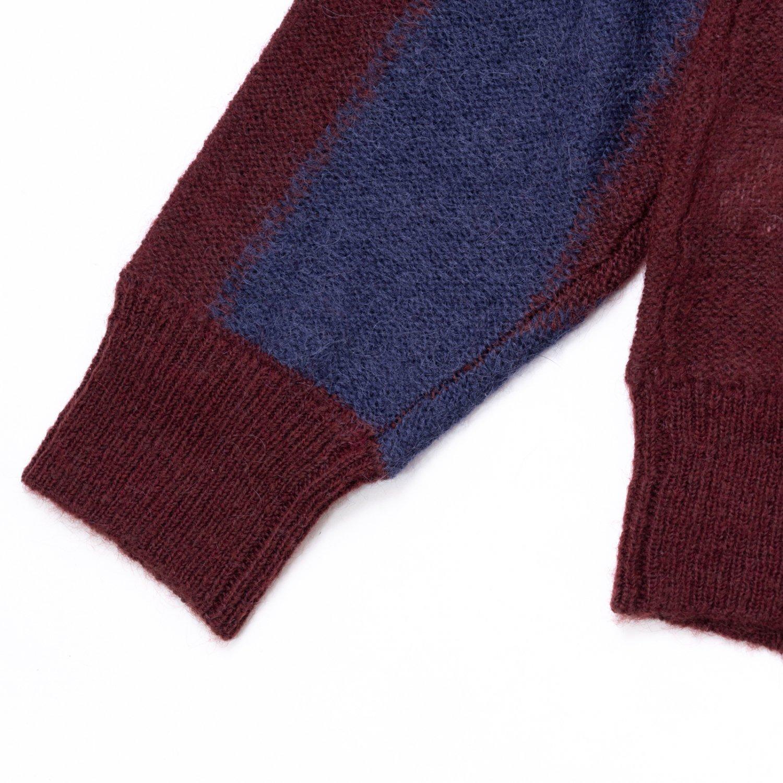 UNUSED * US2096 Stripe Cardigan * Navy/Antique Rose