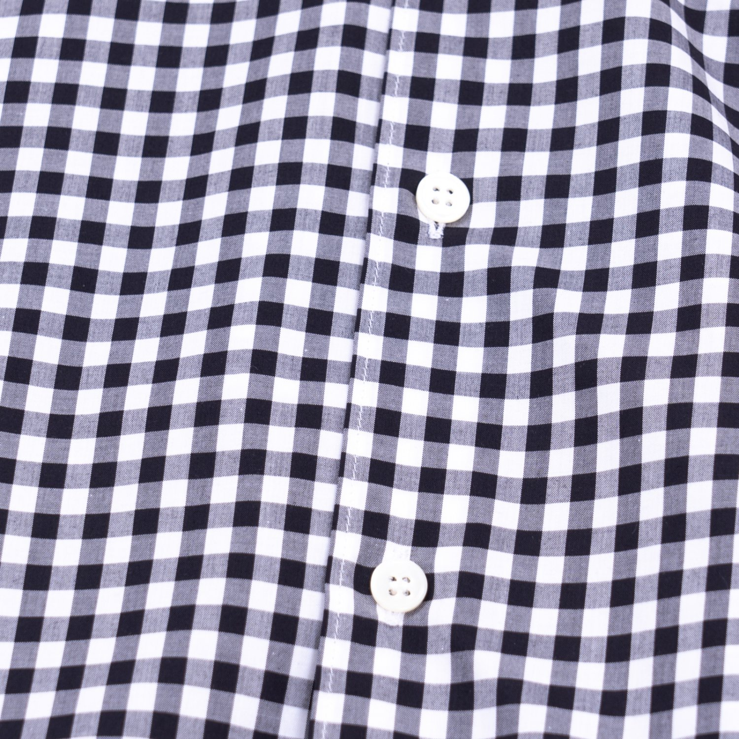 COMME des GARCONS SHIRT * Forever Wide Classic Gingham Check Long Sleeve Shirt * Black