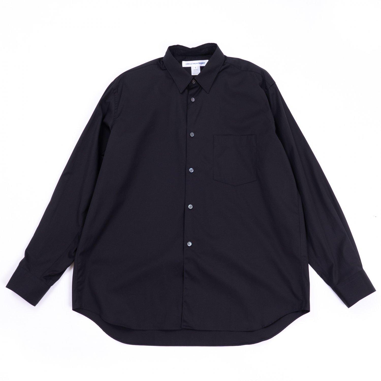COMME des GARCONS SHIRT * Forever Wide Classic Plain Cotton Long Sleeve Shirt * Black