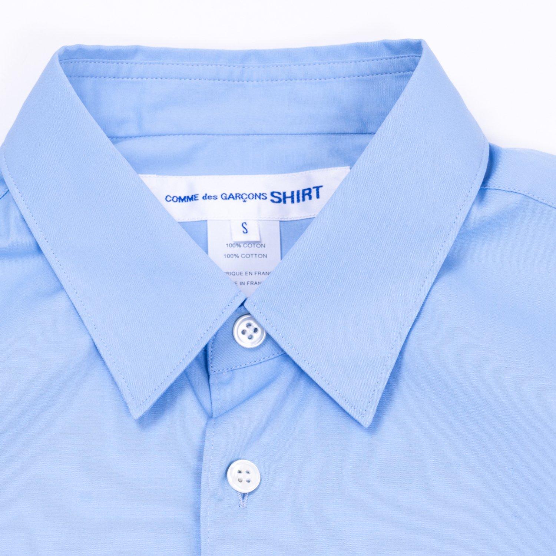 COMME des GARCONS SHIRT * Forever Wide Classic Plain Cotton Long Sleeve Shirt * Sky