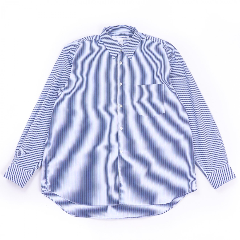 COMME des GARCONS SHIRT * Forever Wide Classic Wide Collar Poplin Stripe Long Sleeve Shirt * Stripe1