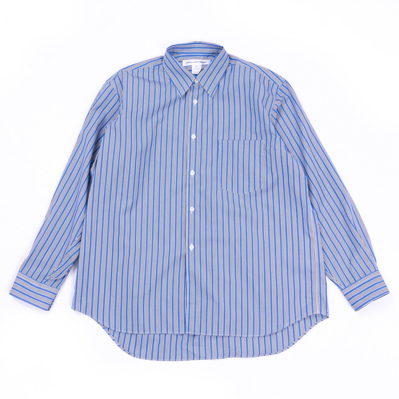 COMME des GARCONS SHIRT * Forever Wide Classic Wide Collar Poplin Stripe Long Sleeve Shirt * Stripe2