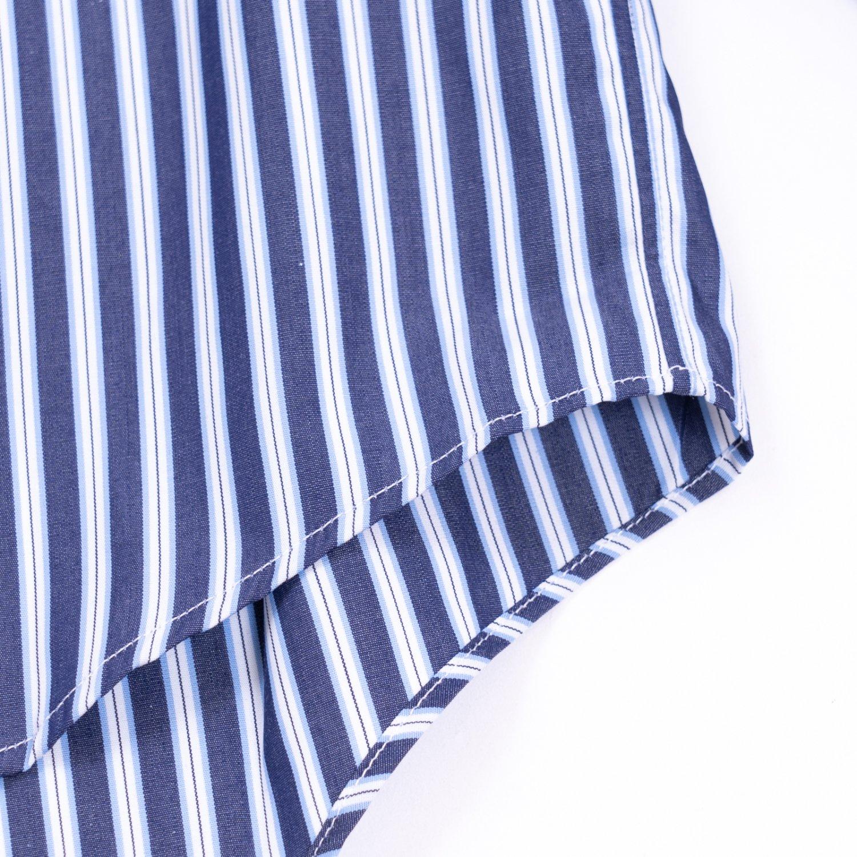 COMME des GARCONS SHIRT * Forever Wide Classic Wide Collar Poplin Stripe Long Sleeve Shirt * Stripe3