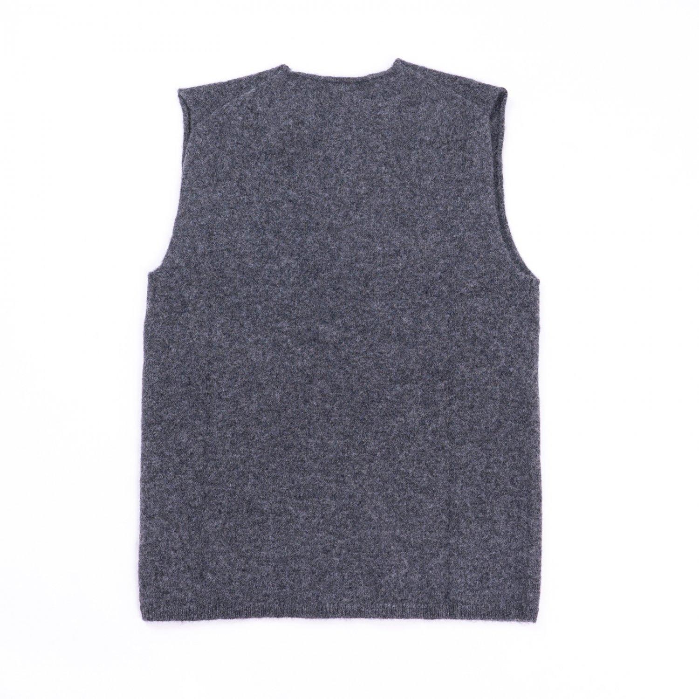 COMME des GARCONS SHIRT * 21AW Collection 7G Knit Crew Neck Vest * D.Grey