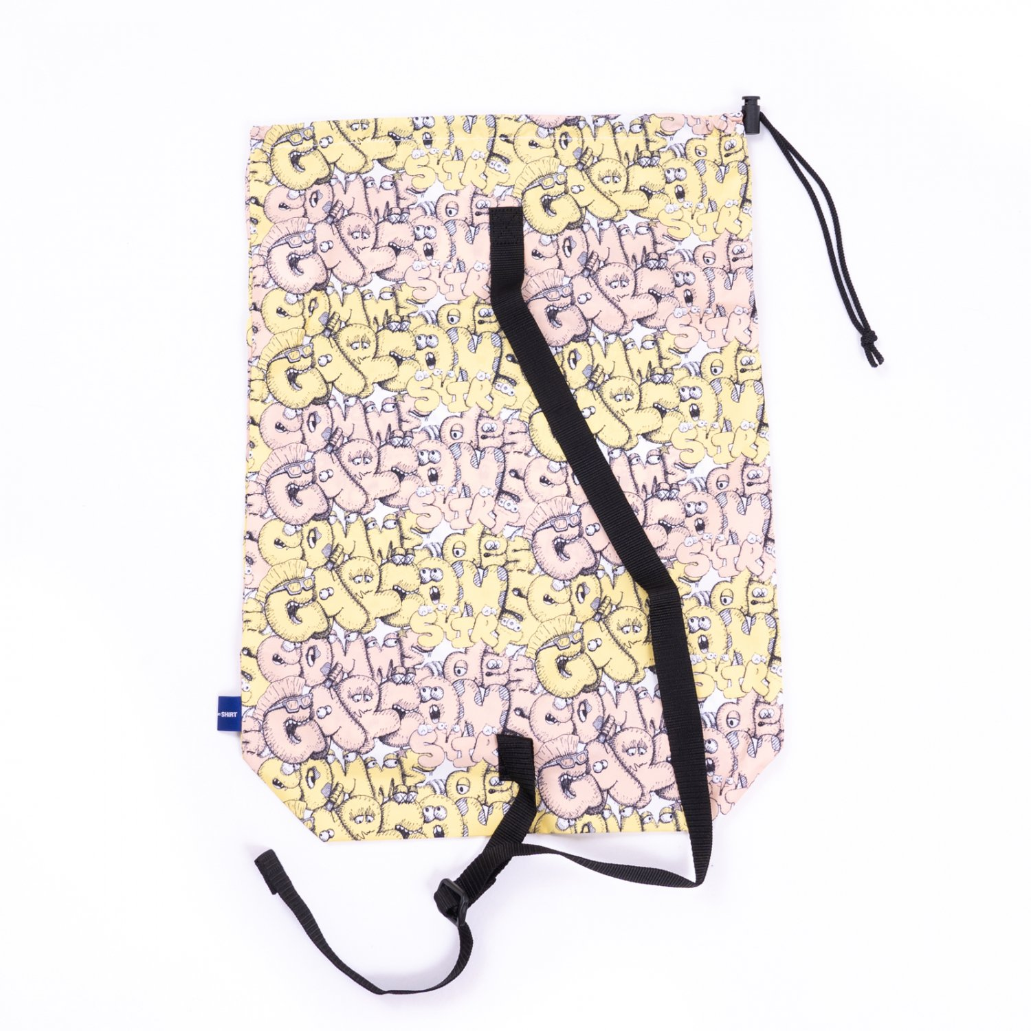 COMME des GARCONS SHIRT * 21AW Collection KAWS Pattern Orinted Polyester Bag * Yellow
