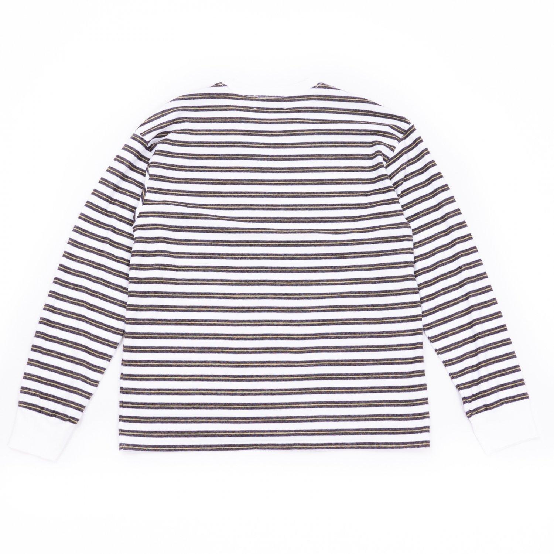 UNUSED * US2116 Long Sleeve Border T-Shirt * White/Black