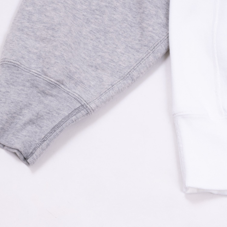 UNUSED * US2100 Two Tone Crew Neck Sweat * White/Gray
