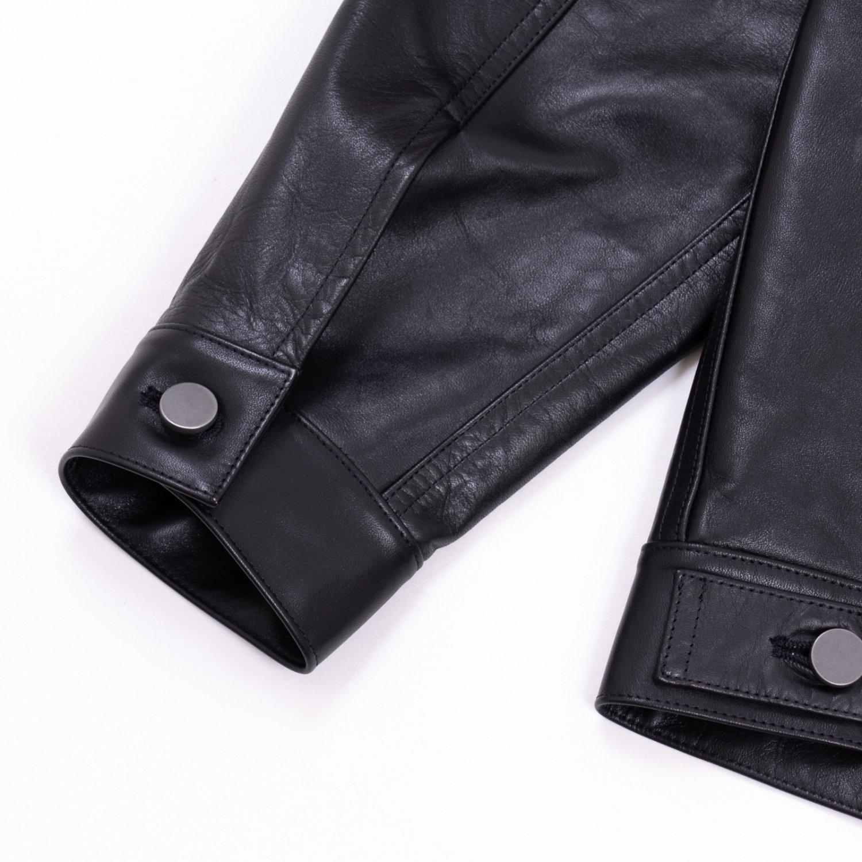 UNUSED * US2113 Horse Leather Jacket * Black