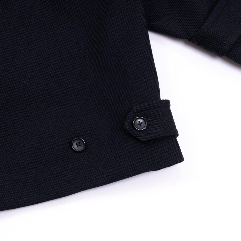 Graphpaper * Wool Kersey Pea Coat * Black