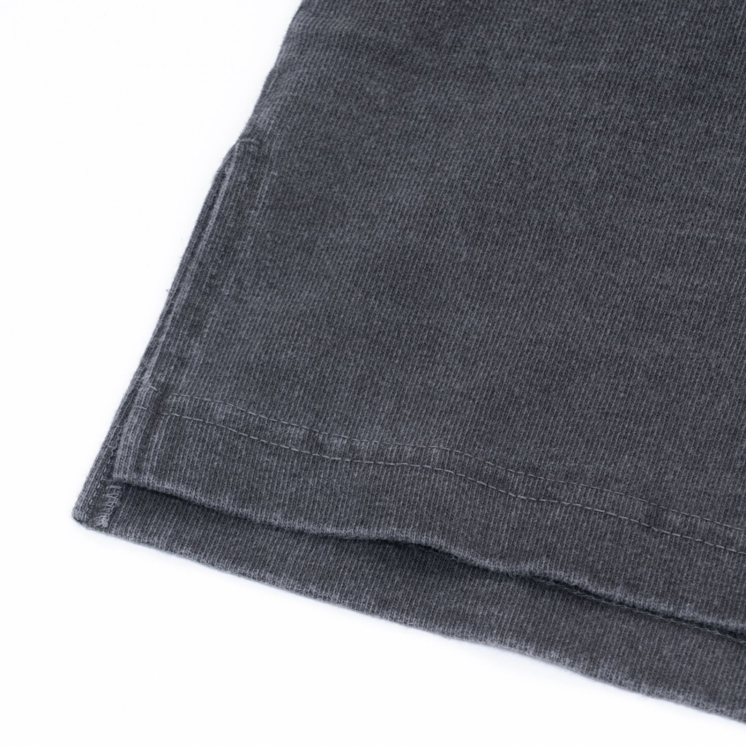 hobo * ARTISAN S/S CREW NECK TEE COTTON HEAVYWEIGHT JERSEY * Charcoal Dyed