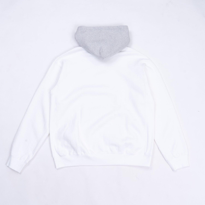 UNUSED * US2043 Two Tone Sweat Hoodie * White/Gray