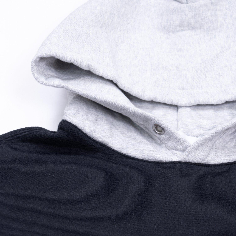 UNUSED * US2043 Two Tone Sweat Hoodie * Black/Gray