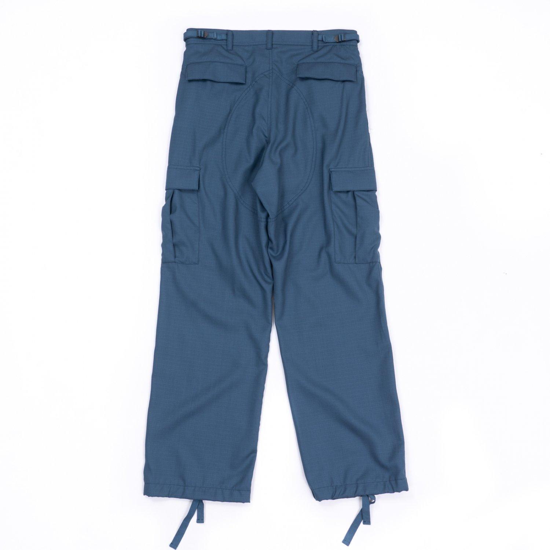 UNUSED * UW0976 Wool Mohair Cargo Pants * Blue