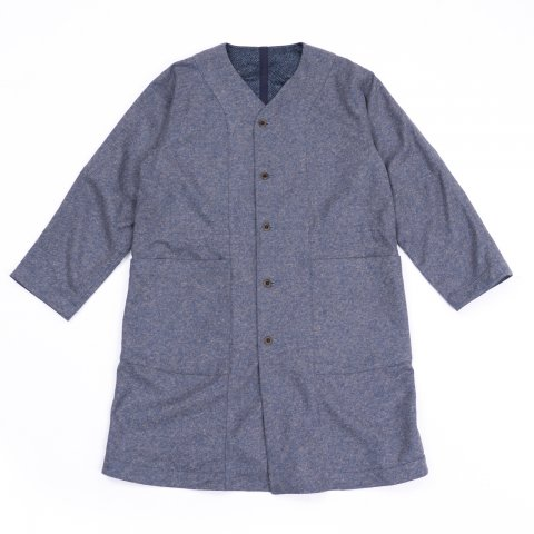 ts(s) * Reversible Seam Taping Collarless Coat * Light Navy