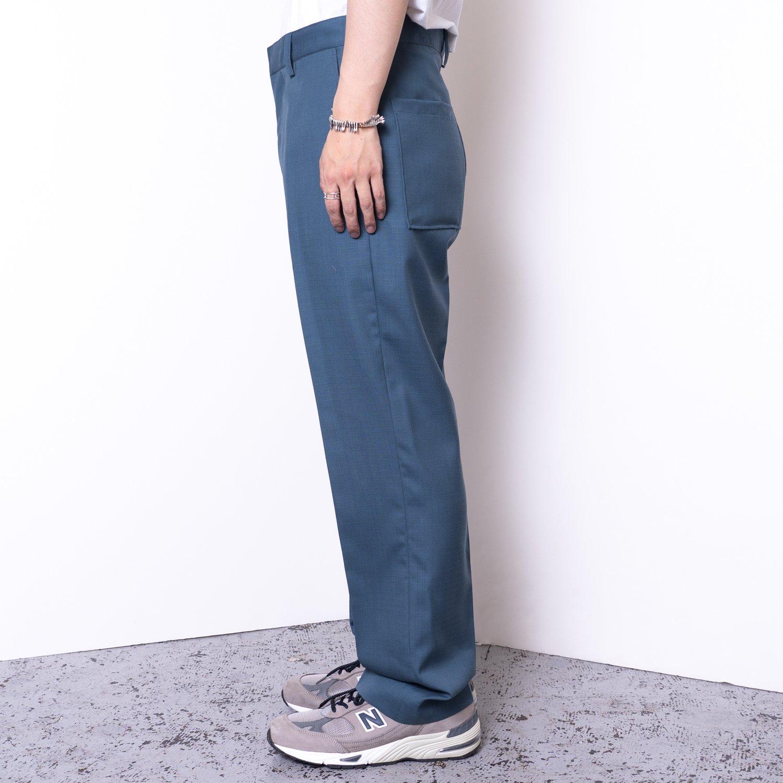 UNUSED * UW0978 Wool Mohair Cargo Slacks * Blue