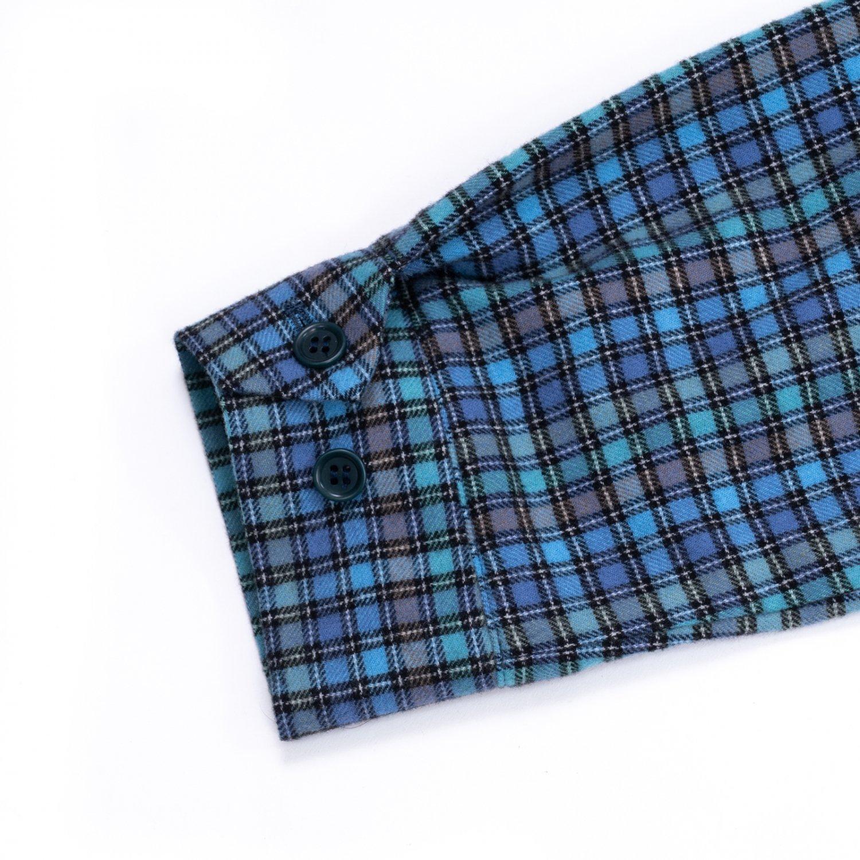 UNUSED * US2114 Check Harrington Jacket * Blue/Green