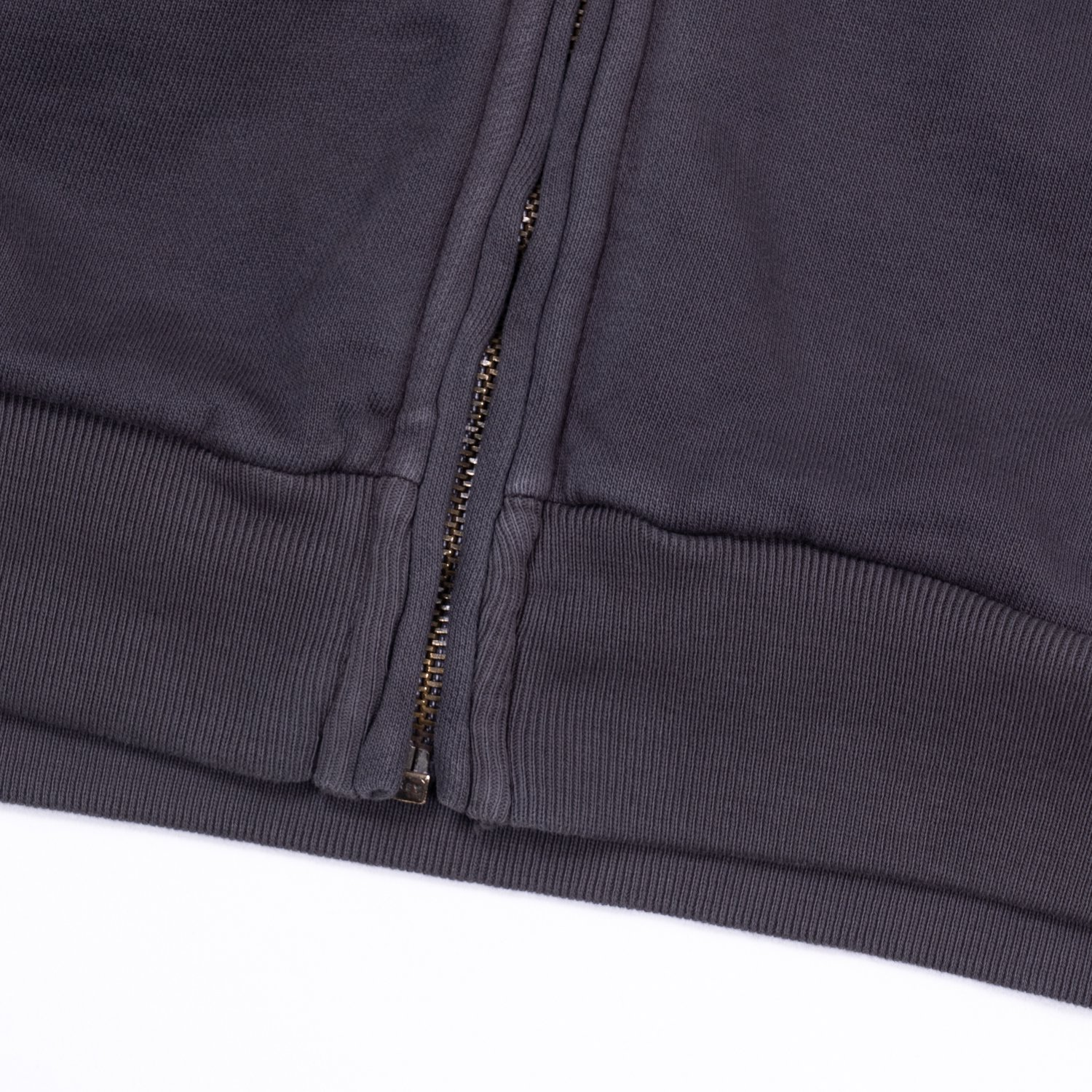 WILLY CHAVARRIA * WAFFLE LINED ZIP BOMBER HOODIE * Ash Gray