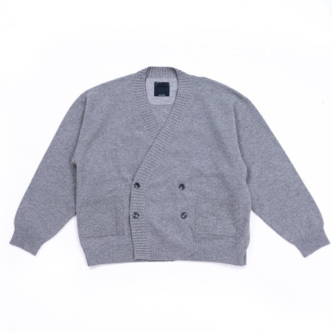 meanswhile * Double Knit Cardigan * Gray