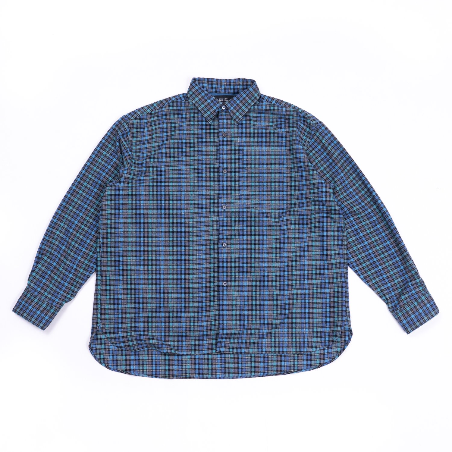 UNUSED * US2090 Check Flannel Shirt * Blue/Green