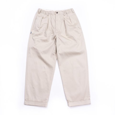 TapWater * Cotton Chino Tuck Trousers * Beige