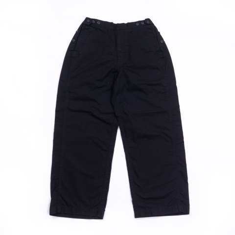 TapWater * Cotton Ripstop Military Trousers * Black