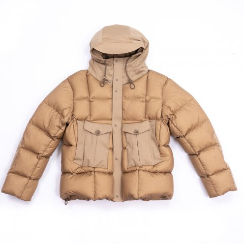 Ten-c * TEMPEST COMBO DOWN JACKET * Taupe