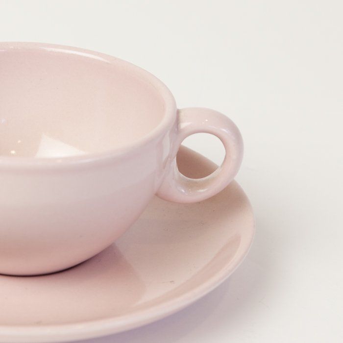 Vintage Russel Wright  * Cup&Saucer * Pink