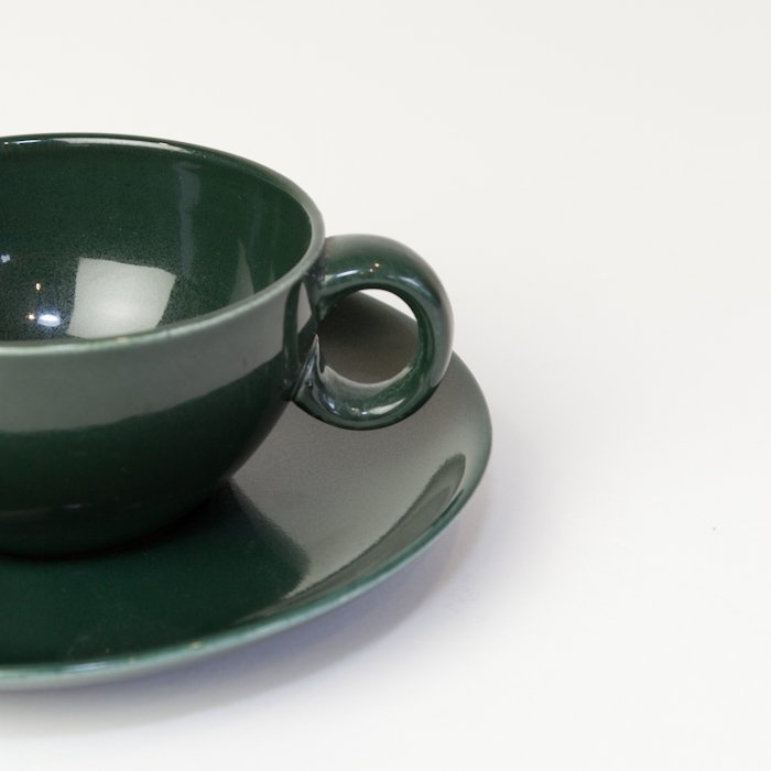 Vintage Russel Wright  * Cup&Saucer * Green