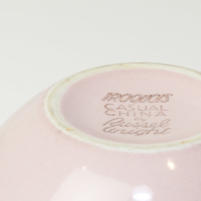 Vintage Russel Wright * Covered Cereal Bowl&Plate * Pink