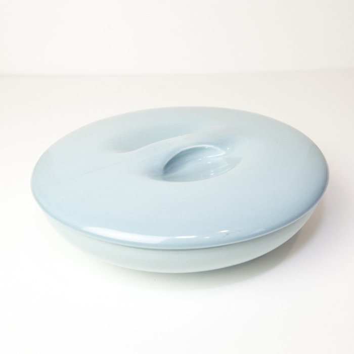 Vintage Russel Wright * Divided Bowl * Light Blue