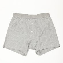 COMME des GARCONS SHIRT * Underwear × Sunspel Cotton Boxer Brief with Button * Grey
