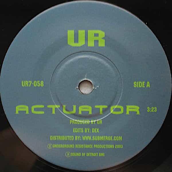 UR / THE MECHANIC / Actuator / Solenoid (7 inch) - sleeve image