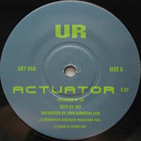 UR / THE MECHANIC / Actuator / Solenoid (7 inch) - sleeve image