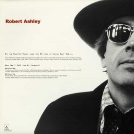 ROBERT ASHLEY / String Quartet Describing The Motions Of Large Real Bodies (CD)