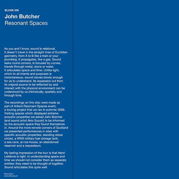 JOHN BUTCHER / Resonant Spaces (LP)