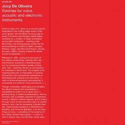 JOCY DE OLIVEIRA / Estórias Para Voz, Instrumentos Acústicos e Eletrônicos (LP)