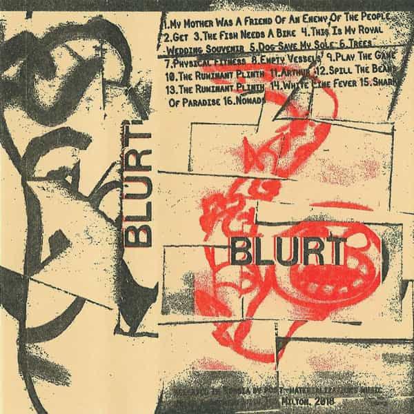 BLURT / Blurt/Singles (Cassette) - sleeve image